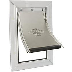 PetSafe Staywell - Puerta para mascotas con marco de aluminio, pequeña