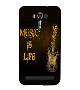 Fuson Premium Back Case Cover Music is Life With Pink Background Degined For Asus Zenfone 2 Laser ZE550KL::Asus Zenfone 2 Laser ZE550KL (5.5 Inches)
