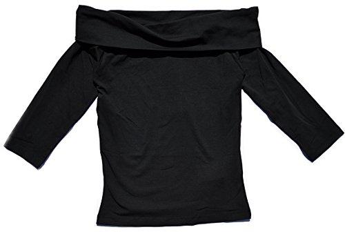 JACQUELINE de YONG Off Shoulder Top Sweatshirt Sweater kurz JDYKENYA 15134055 Black