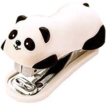 2Paquetes kaysion Cute Panda Mini grapadora con grapas de escritorio para oficina Escuela Hogar Viaje y mejor para regalo para amigos y los niños–Con 2paquetes grapas