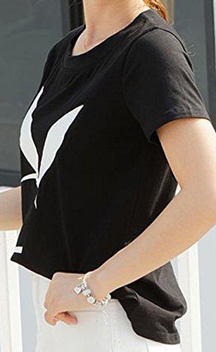 erdbeerloft - Damen Casual T-Shirt mit Print, XS-2XL, Viele Farben Schwarz