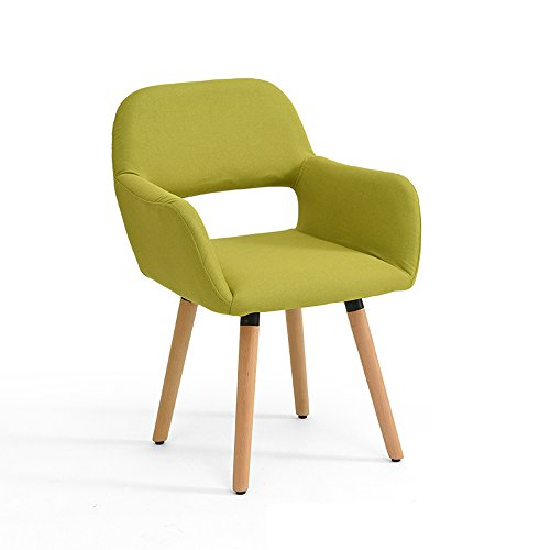 QXX Massivholz Stuhl Hocker Modern Computer Schreibtisch Stuhl Nordic Kreativität Rückenlehne Stuhl Home Casual Esszimmer Stuhl Schwamm Kissen 40 * 42 * 79 cm (Farbe : F) -