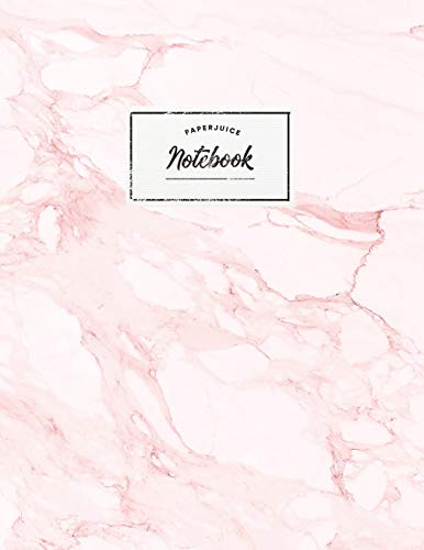 Notebook: Beautiful pink marsble white label |  ★ School supplies ★ Personal diary ★ Office notes  |  8.5 x 11 - big  notebook | 150 pages | College ruled (Pink pink baby collection, Band 28) -