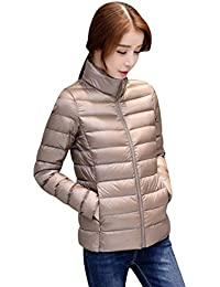 9dcb8e11f6ff6 Giacca Trapuntata Donna Taglie Forti Eleganti Invernali Giacca di  Transizione Cappotto Leggero Tempo Libero Caldo Monocromo
