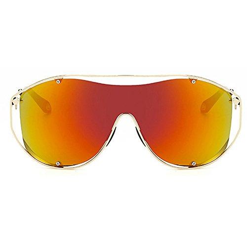 Übergröße Große winddichte Sonnenbrille für Herren Männer Frauen Retro Vintage fahren Aviator Party Motor Eye Wear schwarz Objektiv einteilige Rahmen Brille für Mann Damen mit Fall (Ändern Motor)