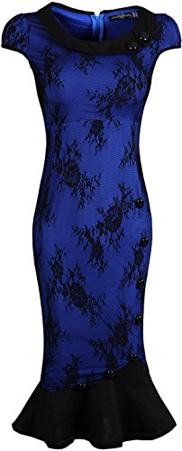 Jeansian Femme Sexy Cocktail Party Fashion Crayon Casual Slim Robes WKD183 DarkBlue