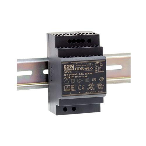 Mean Well HDR-60-5 AC-DC Ultra Slim DIN-Schienen-Netzteil, CV