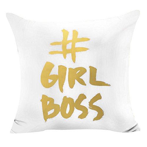 Pu Ran Flügel Buchstabe Star Shining bedruckt Wurf Sofa Kissenbezug Kissenbezug Home Decor - Girl Boss (Modernes Boss Sofa)