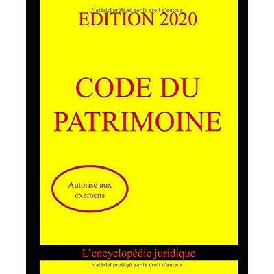 CODE DU PATRIMOINE 2020 : autorisé aux examens