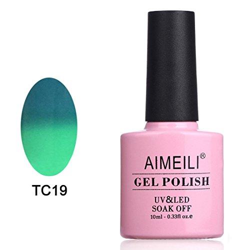 AIMEILI UV LED Gellack Thermo Nagellack Farbwechsel ablösbarer Gel Nagellack Gel Polish - Dryades (TC19) 10ml