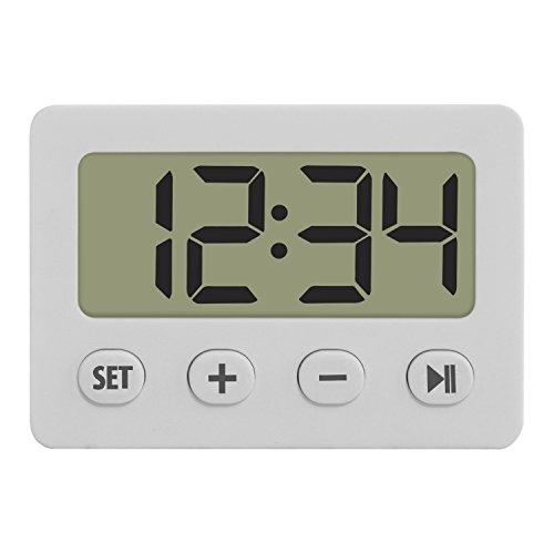 TFA Reloj Despertador Digital Blanco