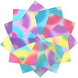 192 Hojas de Papel de Papiroflexia Papel de Plegar para Manualidades 5,6 x 5,6 Pulgadas 12 Colores Gradiente Diferentes