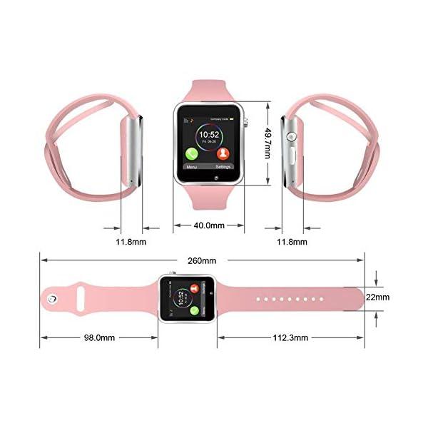 Reloj Inteligente, con Bluetooth y Ranura para Tarjeta SIM para Usar Como Teléfono Móvil. Reloj Deportivo con Rastreador… 4