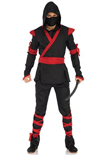 Leg Avenue Ninja Assassin Kostüm, schwarz, rot, Größe: Medium (EUR ()