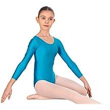 Happy Dance 1005 - Maillot de ballet de manga larga para niña de 4 años, color turquesa