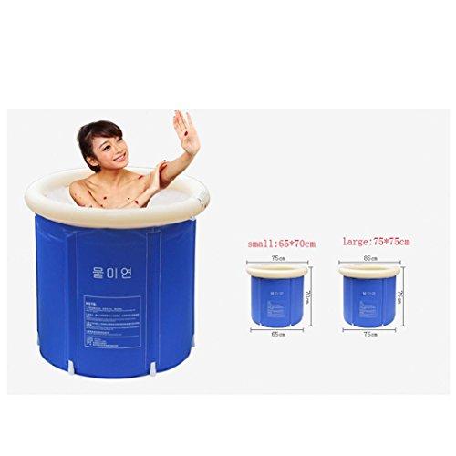 WSS Erwachsenen faltbare Badewanne Dusche Fass Sauna Bad Baden aufblasbare Badewanne verdickt eintauchen MwSt. von Gütern mit doppeltem Verwendungszweck . a