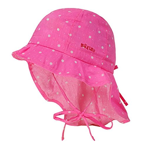 MAXIMO Mütze mit Nackenschutz Erdbeere pink 53 (Hut Rosa Fabelhafte)