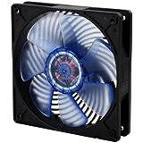 SilverStone SST-AP121 - Air Penetrator 120 mm Hochleistungs-Gehäuselüfter mit einzigartiger Luftstrom-Kanalisierung, geringem Energieverbrauch und blau leuchtenden UV-Lüfterblättern, schwarz