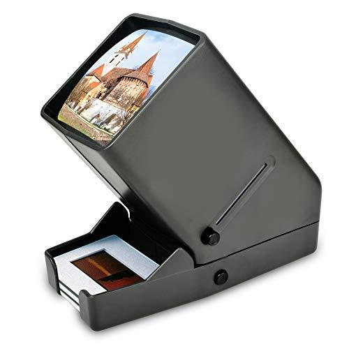 Visionneuse de Diapositives et Négatives de 35 mm, Visionneuse de Films de Bureau à la Lumière du Jour avec Un Grossissement de 3X