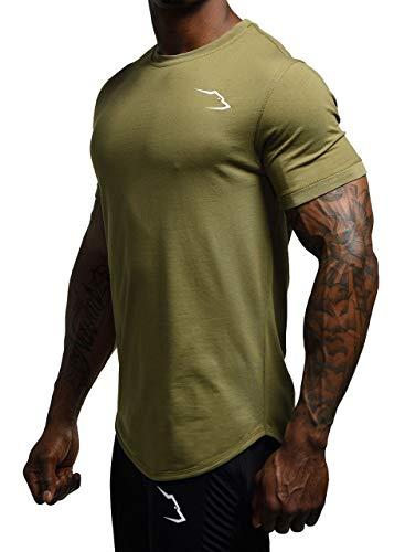 Grizzly Wear Elementary T-Shirt   Bekleidung für Gym Workout, Sport und Lifestyle (Olive, Large)