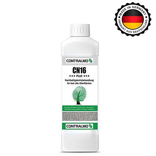 Contralmo CN16 Profi Nachhaltigkeitsbehandlung 1Liter Konzentrat -Grünbelag Entferner -Moosentferner -Dachziegel-Betonstein-Pflaster-Reiniger-Flechten-Algenentferner Fassade