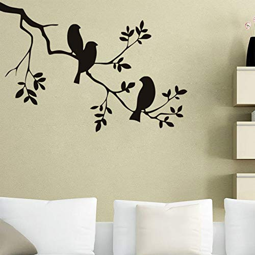 Birds On The Tree Branch Wall Stickers 57X85cm Vinyl Wall Art Decals Quotes Custom Color Wall Tattoo Stickers muraux SA 57X85cm