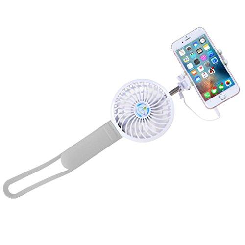 Tefamore Palo Selfie Enfriamiento Enfriador w Portátil de mano súper Mudo USB Mini ventilador de la batería (gris)