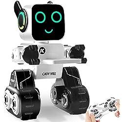 HBUDS Control Remoto Robot Toy & Gift para Niños, Robot Interactivo con Control Táctil & de Sonido, Bailary Cantar, Banco de Monedas Incorporado, Programable & Recargable RC Robot Kit