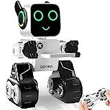 Ferngesteuerter Roboter & Geschenk für Kinder, interaktiver Roboter mit LED-Licht, Touch & Soundsteuerung, spricht, tanzt, spielt Musik, eingebaute Spardose, programmierbares und wiederaufladbares RC Roboter-Kit für Jungen, Mädchen
