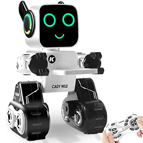Control Remoto Robot Toy & Gift para Niños, Robot Interactivo con luz LED, Control Táctil & de Sonido, Puede Hablar, Bailary Cantar, Banco de Monedas Incorporado, Programable & Recargable RC Robot Kit para Chicos, Niñas de Todas las Edades