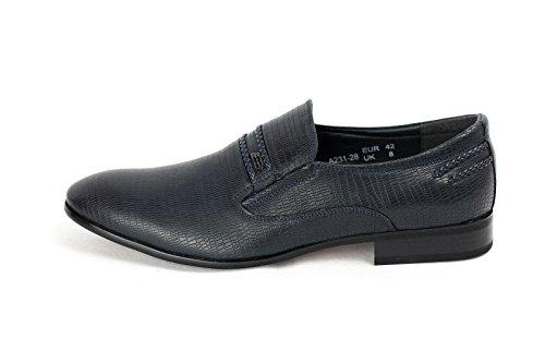 Hommes A Enfiler Chaussures Formelles Smart Bleu Marine
