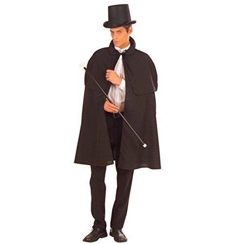 NET TOYS Vampir Umhang mit Pelerine Kutscher Edelmann Gewand Vampirumhang Cape Mittelalter Mantel Sleepy Hollow Halloween Detektiv Sherlock Holmes Kostüm Zubehör (Sherlock Holmes Kostüm Halloween)