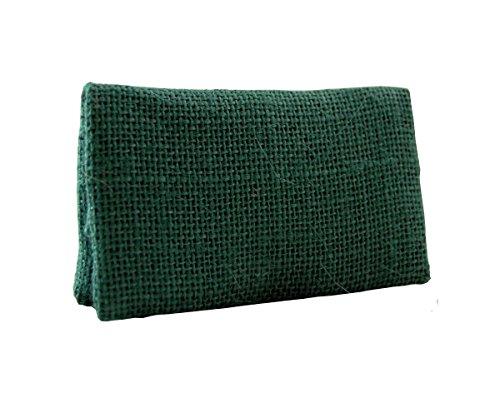 Estuche Bolsa Bolso de tabaco PLAN B - TWO DAYS SACO VERDE yute- Tabaquera ultra compacta de bolsillo, compartimentos para boquillas, papel y picadura. Hecha en España.