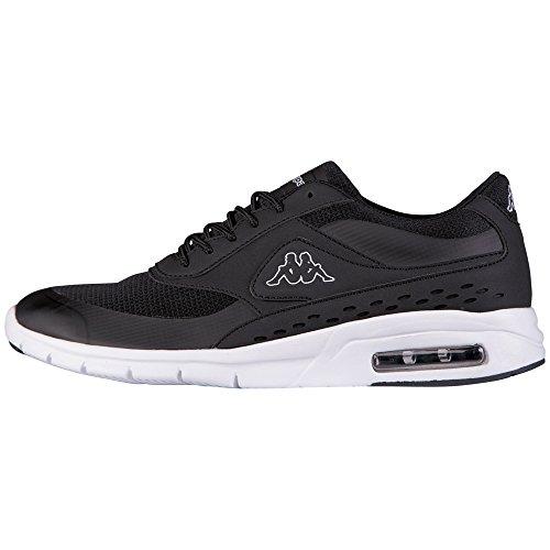 Kappa Milla M Footwear Men, Synthetic/mesh, Sneakers basses mixte adulte Noir - Schwarz (1110 black/white)