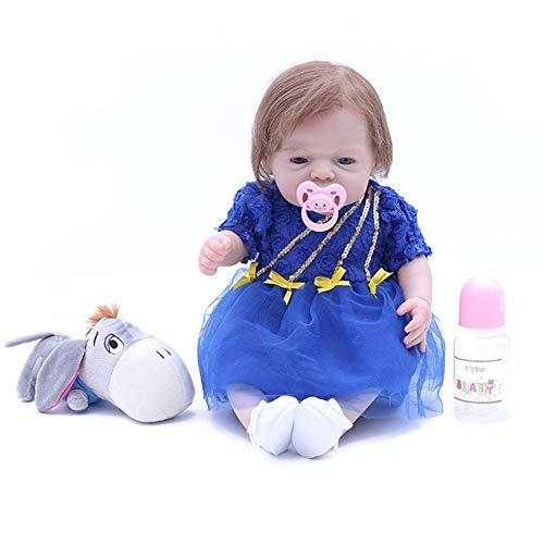 Biback - Muñeca de bebé Reborn de Silicona Suave simulación muñeca de 25,4 cm, A, A