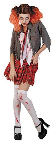 Pro Zombie Kostüm - Party Pro 87283533-Kostüm Zombie Studentin, 38