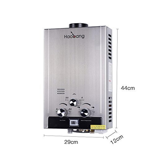Haobang Tankless Gas Sofortwarmwasserbereiter JSD12-S01 6L / Min 12KW NG 2000Pa