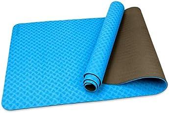 Trideer Antirutsch TPE Yogamatte 6 mm, recyclebar und Umweltfreundlich, Zertifiziert durch SGS, Fitnessmatte, Sportmatte mit Tragegurt für Yoga, Pilates Sowie Indoor- und Outdoortraining