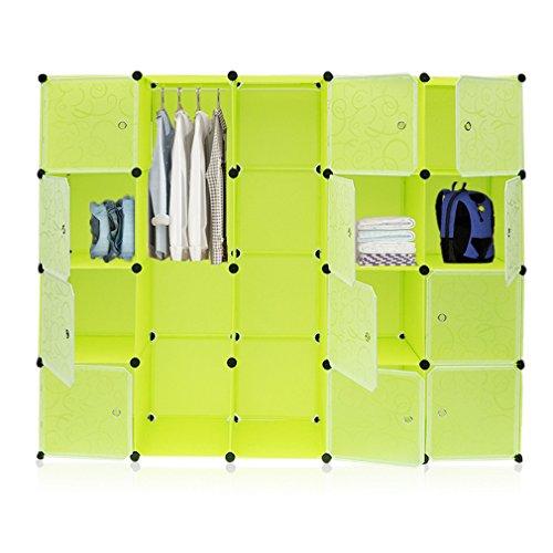 KinshopS DIY Kleiderschrank 20 Boxen Schuhschrank Aufbewahrung Garderobenschrank Steckregalsystem...