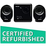 (Renewed) Philips SPA150/94 2.1 Desktop Speakers Black