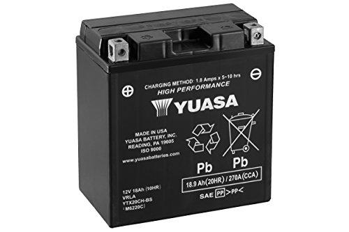 YUASA - BATTERIA YTX20CH-BS - L150xl87xH161 - Con Manutenzione - Fornita con acido