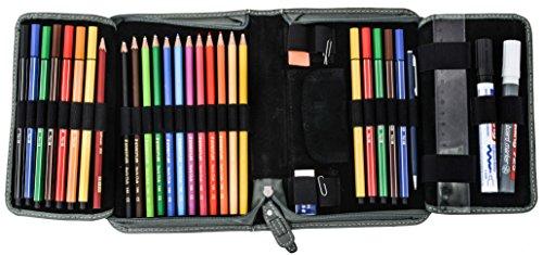 Portacolori Gusti Leder studio ''Yannick'' astuccio penne matite organizer ufficio vintage unisex turchese 2S30-22-12