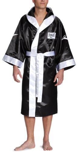 Everlast 4387H - Bata de boxeo con capucha unisex, color negro, talla