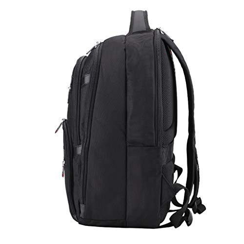 Reisetasche LITING Herren Multifunktions Schulter 17-Zoll-Notebook Business Rucksack mit großer Kapazität Multi-Layer-Raum USB Charging Schwarz