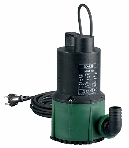 DAB Nova 300 M-A SV - Automatic submersible pump with float switch for clear and dirty water drainage 0.22 kW / 0.3 HP single-phase with special stainless steel pump shaft (domestic use) by DAB