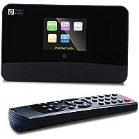 Ocean Digital DBA-03R DAB / DAB + Wi-Fi Radio de Internet Sintonizador de FM / Bluetooth con Salida óptica / Salida de audio a Altavoces de alta fidelidad Pantalla a color-Negro