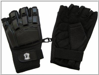Paintball Handschuhe Protectoren - Halbfinger - schwarz, Größe L des Herstellers McPaintball
