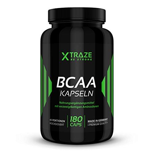 BCAA 180 Kapseln verzweigtkettige Aminosäuren 2:1:1 Leucin, L-Isoleucin, L-Valin