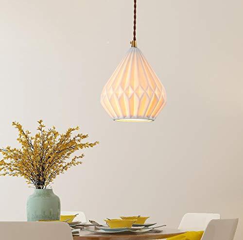 Origami Craft Hand Made White Paper Lampen Shades mit Cord Easy Fit für Wohnzimmer Esszimmer Küche Schlafzimmer -