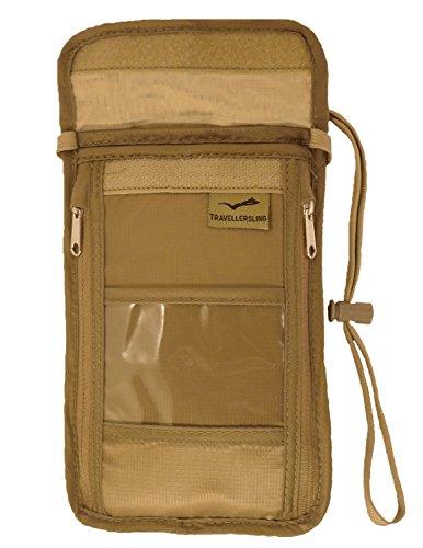 Travellersling seguridad viajes cuello bolsa custom-khaki Custom Khaki